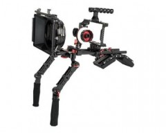 CAME-TV BMPCC Plus Camera Cage Shoulder Rig with Matte Box and Follow Focus for BMPCC 6K/4K