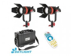 CAME-TV 2 Pcs CAME-TV Q-55W Boltzen 55w High Output Fresnel Focusable LED Daylight Kit