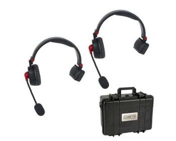 CAME-TV WAERO Duplex Digital Wireless Foldable Headset with Hardcase 2 Pack