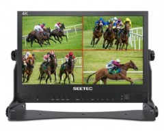 "SEETEC ATEM156 15.6"" Live Streaming Broadcast Director Monitor with 4 HDMI Input Output Quad Split"
