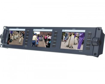 "DataVideo TLM-433 3 x 4.3"" SD TFT LCD Monitor in Rack 2U"