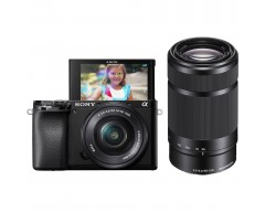 Sony Fotocamera Alpha 6100 APS-C con autofocus rapido con obiettivi 16-50 mm e 55-210 mm