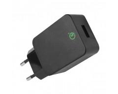 Alimentatore da Rete Italiana a USB 5V 2,4A Nero