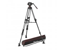 Manfrotto 504X Fluid Video Head & 645 FAST Aluminum Tripod with Mid-Level Spreader