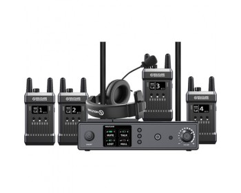 Hollyland Full-Duplex Intercom System with Four Beltpack Transceivers