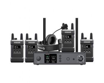 Hollyland Full-Duplex Intercom System with Four Beltpack Transceivers