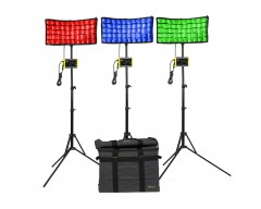 ikan Canvas Full Color Bendable LED Panel 3-Point Kit with RGBWA Color Control