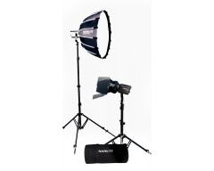 NANLITE Forza 60B LED dual kit (w/ case, light stand, fresnel and softbox)