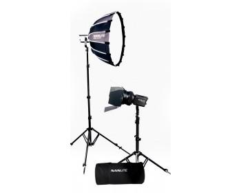 NANLITE Forza 60B LED dual kit (w/ case, light stand, fresnel