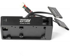 "ZITAY CFast to SSD Adapter, Dual CFast 2.0 to 2.5"" SATAIII 4T SSD Adapter Converter Mount Blackmagic URSA Mini 4K 4.6K"