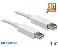 Delock Cable Thunderbolt™ male / male 1 m white