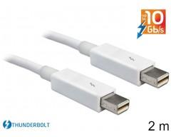 Delock Cable Thunderbolt™ male / male 2 m white