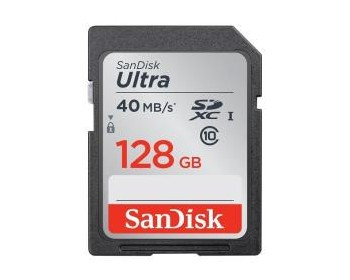 SanDisk SD Ultra 128GB 40MB/s (SDXC) Class 10