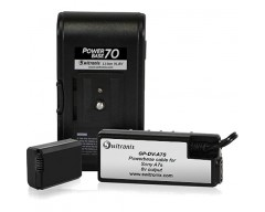 """Switronix PowerBase 70 Battery for Sony a7S (12"""" Cable)"""