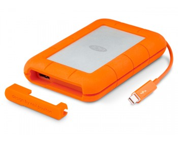 LaCie Rugged Thunderbolt & USB 3.0 with integrated Thunderbolt cable / Shock , dust, and water resistant 1TB