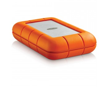 LaCie Rugged Thunderbolt & USB 3.0 with integrated Thunderbolt cable / Shock , dust, and water resistant 4TB / Thunderbolt RAID