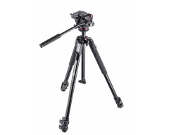 Manfrotto Kit serie 190 a 3 sezioni, con testa foto/video fluida