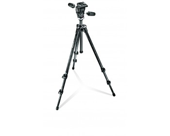 Manfrotto Kit 294 carbonio 3 sez. + testa a 3 mov. e Quick Release RC