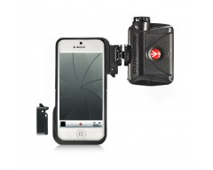 Manfrotto Custodia per Iphone5 con 2 adatt. + luce LED Mini ML240