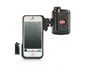 Manfrotto Custodia per Iphone5 con 2 adatt. + luce LED Mini ML240