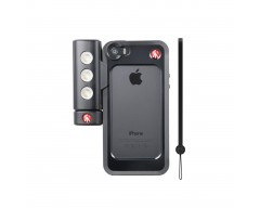 Manfrotto Kit per iPhone 5/5s con luce led e bumper nero