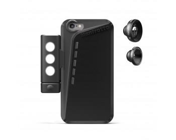 Manfrotto Kit custodia per Iphone6 plus, luce LED, tele 3X e fisheye
