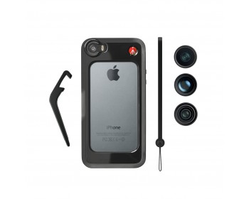 Manfrotto Kit per iPhone 5/5s con tre lenti e bumper nero