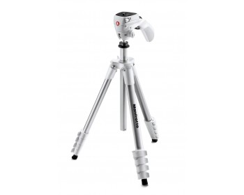 Manfrotto Treppiedi Compact Action bianco con testa joystick