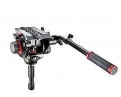 Manfrotto Testa video con semisfera 75mm, 1 leva telescopica