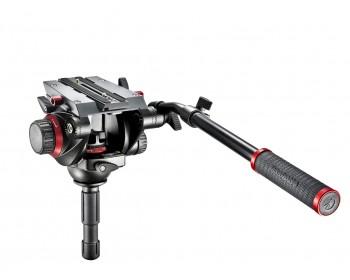 Manfrotto Testa video con semisfera 75mm, 1 leva telescopica