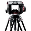 Manfrotto Testa video con semisfera da 100mm, 1 leva telescopica