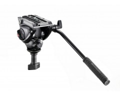 Manfrotto Testa video con semisfera da 60mm, 1 leva fissa