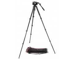 Manfrotto Kit treppiedi video a gamba singola in alluminio e testa 504