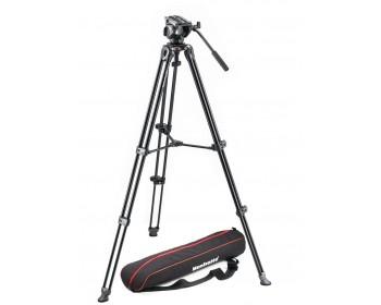 Manfrotto Kit 500, treppiede telescopico a doppio tubo MVT502AM sacca