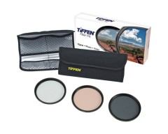 Tiffen 77mm Photo Essentials Kit (UV Protector, 812 Color Warming, Circular Polarizing Glass Filters & 4 Pocket Pouch)