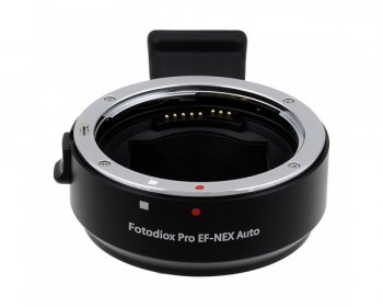 Fotodiox Pro Lens Mount Auto Adapter - Canon EOS (EF / EF-s) Mount Lens to Sony Alpha E-Mount Camera