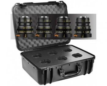 Veydra KIT M4/3 Mini Prime 4 lens Set with Case: 16, 25, 35, 50mm T2.2 Metric