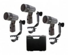 Sennheiser e 604 Drum Set Mini valigetta in plastica completa di 3 microfoni e 604 + 3 supporti MZH 604