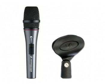 Sennheiser e865 microfono per voce, condensatore, supercardioide, 40-20.000, con interruttore, alimentazione P 12-48V