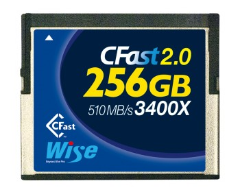 Wise CFast 2.0 Memory Card 256GB 530-450MB/s 3400X