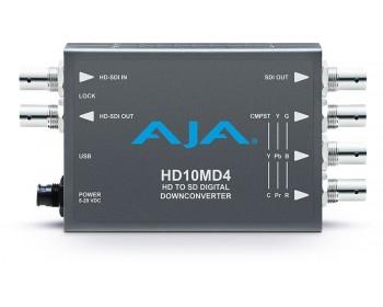 AJA HD10MD4 down-converts HD-SDI video to standard definition SDI