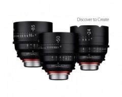 Xeen 3 Cine Lens Kit 24/50/85mm T1.5 4K with Hard Case