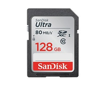 SanDisk SD Ultra 128GB 80MB/s (SDXC) Class 10