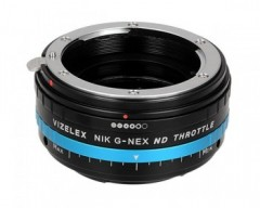 FotodioX Vizelex Pro ND Throttle Lens Mount Adapter for Nikon F-Mount Lens to Sony E-Mount Camera