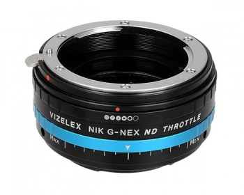 FotodioX Vizelex Pro ND Throttle Lens Mount Adapter for Nikon F-Mount Lens to Sony E-Mount Camera