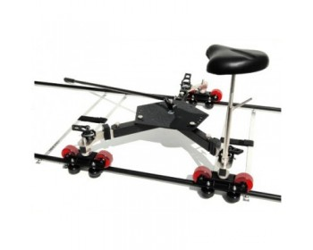 Indie Dolly Kit Curved Kit Platform with 3 wheels and seat, 4 Curved Track 90° and 2 carring Bags