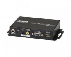 Aten VC812 Convertitore da HDMI a VGA con motore di scaling , FullHD (1.080p), 16:9 e 4:3
