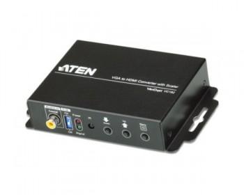 Aten VC812 Convertitore da VGA a HDMI con motore di scaling , FullHD (1.080p), 16:9 e 4:3