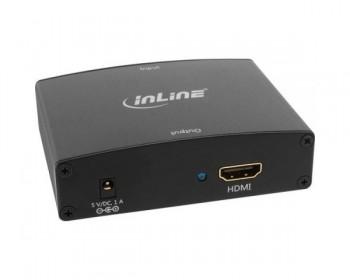 InLine Convertitore VGA + Audio a HDMI, Ingresso VGA + RCA Audio Stereo, Uscita HDMI