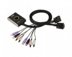 Aten CS682 Switch KVM USB DVI a 2 porte con audio cablato e selettore remoto della porta